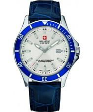 Swiss Military 6-4161-2-04-001-03 Pánská vlajkový modré kožený řemínek hodinky