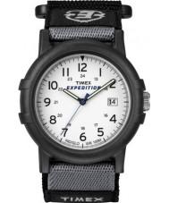 Timex T49713 Pánská bílá černá táborník expedice hodinky
