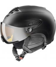 Uvex 5661622205 Hlmt 300 black lyžařská helma s kšiltem lasergold - 55 až 58 cm