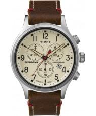 Timex TW4B04300 Pánská expedice Scout hnědá kůže chronograf hodinky
