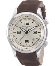 Elliot Brown 202-003-L08 Pánská Canford čokoládově hnědá kůže popruh hodinky