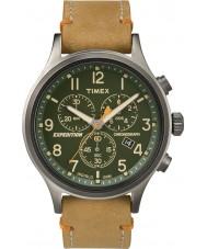 Timex TW4B04400 Pánská expedice Scout opálení kůže chronograf hodinky
