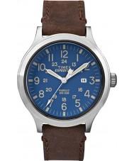 Timex TW4B06400 Pánská expedice Scout hnědý kožený řemínek hodinky