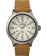Timex TW4B06500 Pánská expedice Scout opálení kožený řemínek hodinky