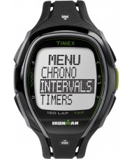 Timex TW5K96400 Ironman 150-lap v plné velikosti elegantní černé pryskyřice popruh chronograf hodinky